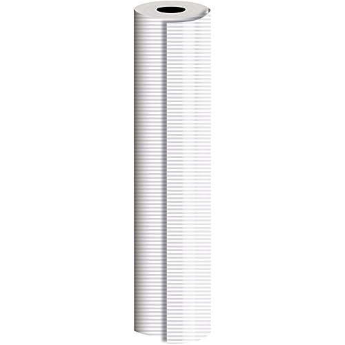 JAM Paper® Industrial Size Bulk Wrapping Paper Rolls - Pearl Stripe Design - 1/4 Ream (520 Sq Ft) - Sold Individually by JAM Paper