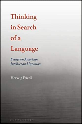Amazoncom Thinking In Search Of A Language Essays On American  Thinking In Search Of A Language Essays On American Intellect And Intuition