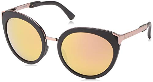 Oakley Women's OO9434 Top Knot Cat Eye Sunglasses, Velvet Black/Prizm Rose Gold Polarized, 56 mm (Sunglasses Top Women)