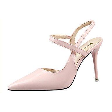 Others Others Black Heels Stiletto US8 Heels EU39 Purple Heel Pink CN39 Gray PU Red UK6 Casual Women's Summer Silver 608w1q1S