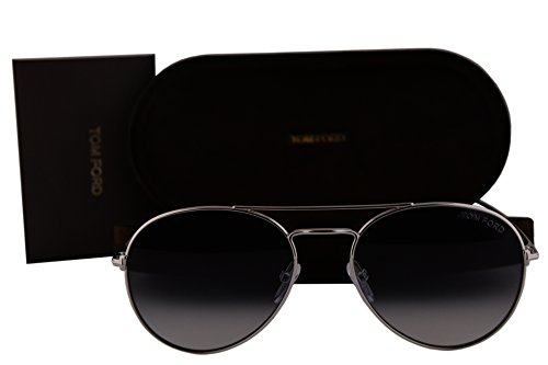 Tom Ford FT0551 Ace-02 Sunglasses Rhodium Shiny Silver w/Gray Gradient Lens 18B TF551 TF 551 FT 551 by Tom Ford