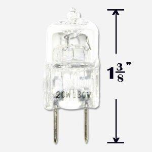 Anyray 12-Bulbs 20 Watt G8 20w 120v T4 Halogen Light Bulb JCD Type GY8.6 110v 130 Volt lamps