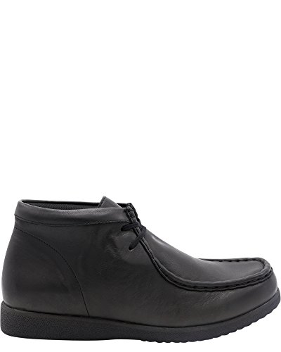 Hush Puppies Unisex-Kids Bridgeport III Chukka Boot, Black/Black, 5.5 Medium US Big Kid