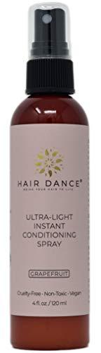 Ultra Light Leave-in Conditioner Spray - Detangler - Vegan - Natural Ingredients - Paraben Free - Silicones Free - Sulfates Free. Grapefruit scent - 4 oz.