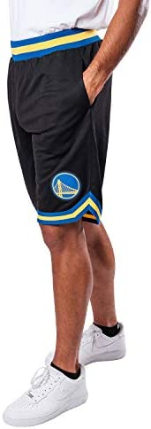 Ultra Game NBA Golden State Warriors Mens Woven Basketball Shorts, Team Color, Medium