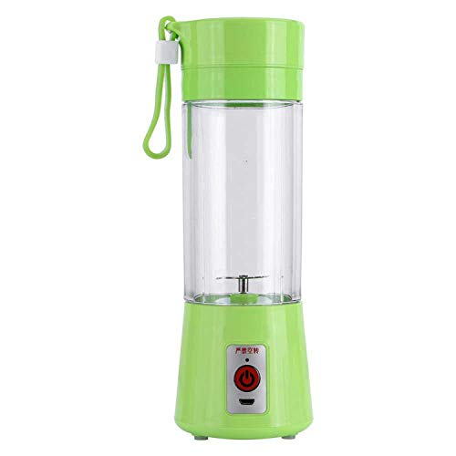 Mini Portable Electric Fruit Juicer USB Rechargeable Smoothie Maker Blender Machine Sports Bottle Juicing Cup,Green