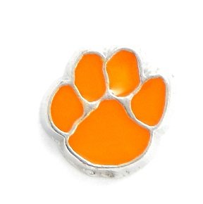 Clemson Tigers Floating Charm for Locket - Tigers Basketball Pendant Tigers