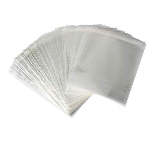 (Sannigora 200pcs Clear Resealable Adhesive Cello/Cellophane Treat Bags - Self Sealing OPP Plastic Bag Great for Bakery Candy Cookies Birthday Party Favors and More (10' x 13''))
