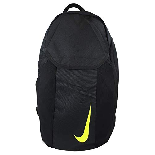 Nike Unisex Academy Soccer Backpack, Black/Black/Volt, One Size (Nike Soccer Ball Bag)