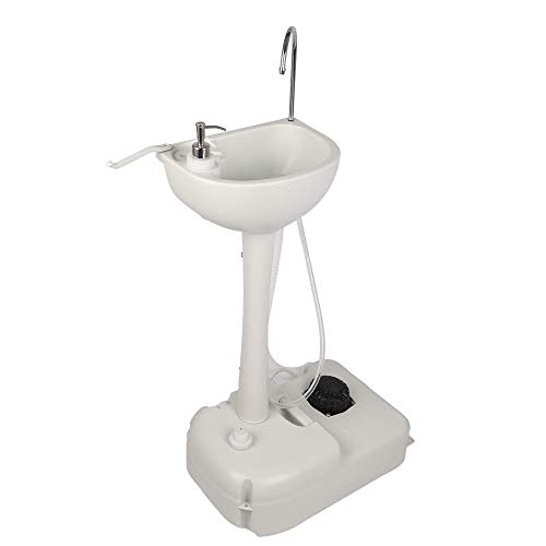 TimmyHouse Outdoor Wash Basin Portable Sink Toilet for Camping Travel Garden with Handles