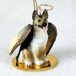German Shepherd Tan/black Tiny One Dog Angel Christmas Ornament (3' Ceramic Insert)
