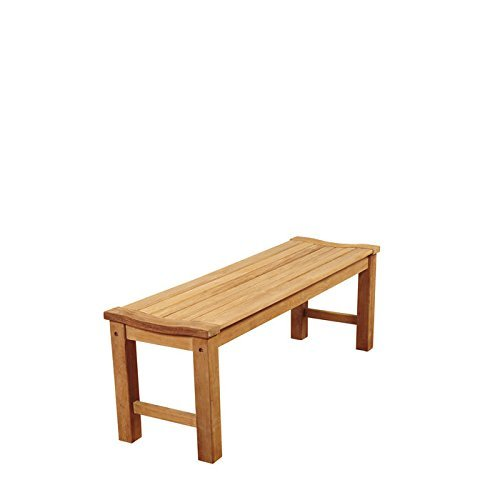 Amazonia 51 in. Teak Patio Backless Bench