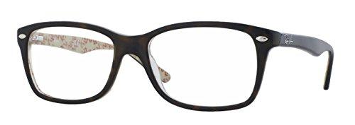Ray Ban Rx5228 Brillen Donker Havana Met Beige Lijst