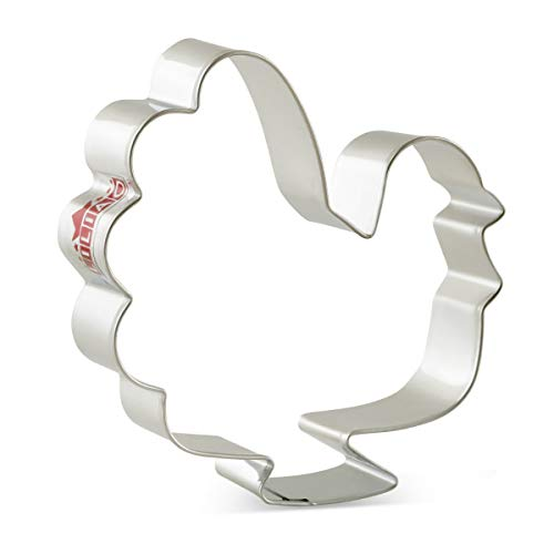 LILIAO Fall Thanksgiving Cookie Cutters Set - 7 Piece - Turkey, Pumpkin, Maple Leaf, Oak Leaf, Squirrel, Acorn and Apple Cutter - Stainless Steel by LILIAO (Image #1)