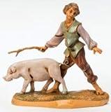 Fontanini Clement Boy with Pig Italian Nativity