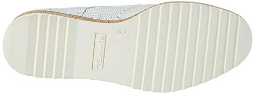 Tamaris Donna 23706 Scarpe Stringate Brogue Bianche (bianco Opaco 109)