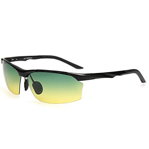 de 100 Black de UV400 Noche estilo masculino Polaroid y gafas sol protección de sol Gafas negro gafas sol gafas Día TIANLIANG04 hombre guía polarizadas 4g6Hzz