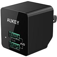 Aukey 2.4A USB Wall Charge w/Foldable Plug