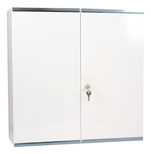 - Reliance Medical 215 Locking Metal First Aid - Medicine Cabinet, Double Door, Metal