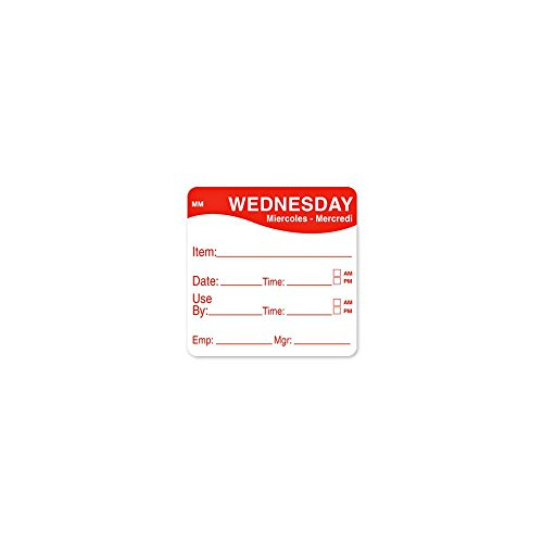 DayMark 1100353 MoveMark 2'' Wednesday Use By Day Square - 500 / RL by DayMark Safety Systems