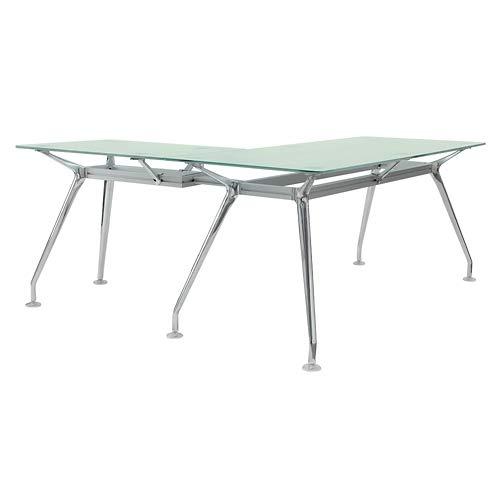 Brilliant Glass Top L Desk 71