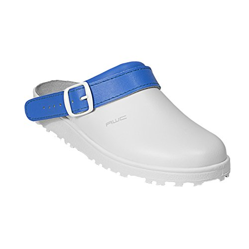 Ristpolster Aqua Sandale Bleu wei Blanc Zoccoli mint AWC donna ztO1qw
