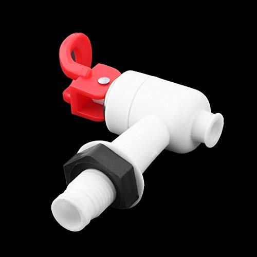 Uxcell Plastic Cooler Valve Spigot Water Dispenser Tap, White Red, White Red by uxcell (Image #1)