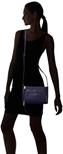 Black Saffiano Top Plum Klein Zip Calvin Lily Leather Crossbody xw0SqR