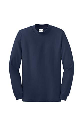 Clothe Co. Mens Mock Turtleneck Long Sleeve Shirt,Navy,L ()