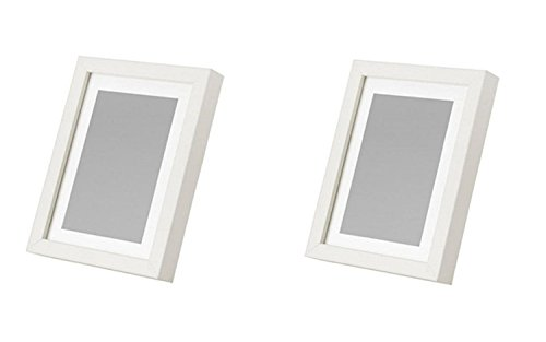 (Ikea Ribba 5x7 Picture Frame, White, Set of 2 New)