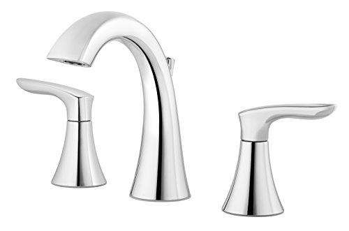 (Pfister Weller LG49WR0C Widespread Bath Faucet, polished chrome finish,)