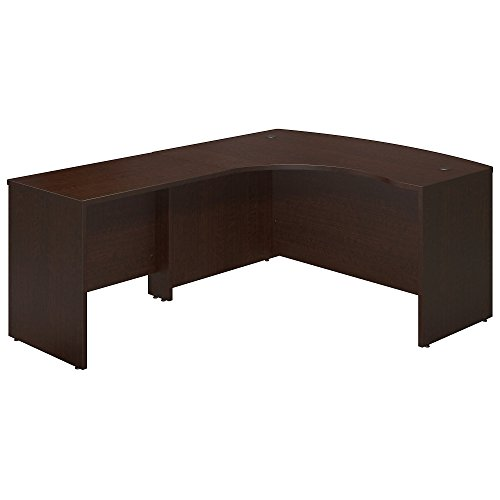 Bush Business Furniture Series C Elite 60W x 43D Left Hand Bowfront Desk Shell with 36W Return in Mocha - Desk Executive Bow Front
