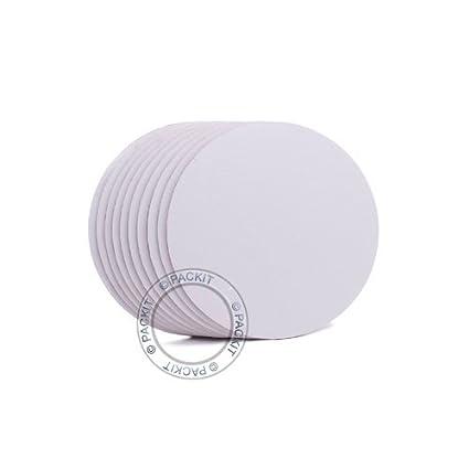 PackitUK Bandejas para Tartas Blanco 30,5 cm Redondas. Paquete DE 10.