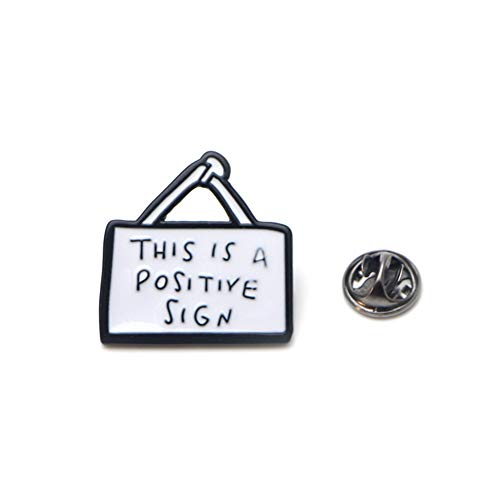 (CHoppyWAVE Creative Letter Pattern Badge Enamel Brooch Pin for Clothes Bag Scarf Decor - White)