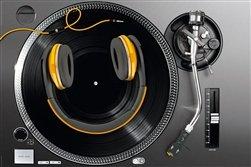 Shutterstock Smile DJ Vinyl Turntables Music Poster
