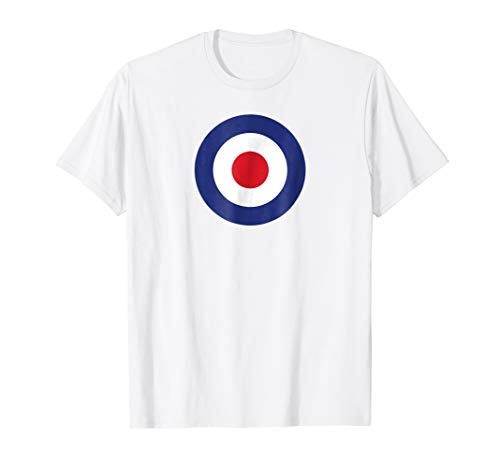 RAF Roundel Bullseye Target British MOD Pop Art T- Shirt
