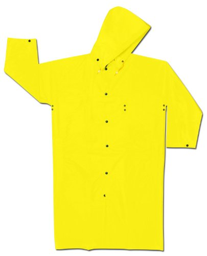 MCR Safety 550CM 49-Inch Navigator Nylon/Polyurethane Coat with Detachable Drawstring Hood, Yellow, Medium - Mcr Safety Navigator