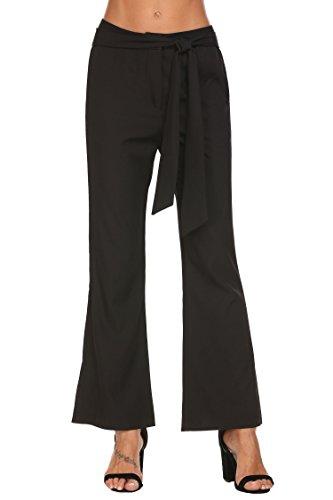 Women's Petite Modern Series Midrise Fit Linea Ankle Pant - Detail Wide Leg Trousers