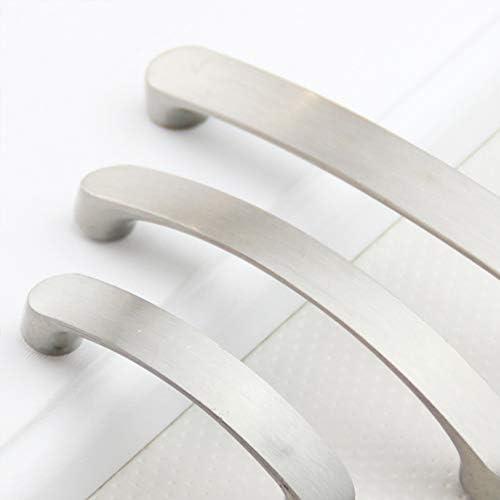 10 Unidades Armario Mango Cepillado caj/ón Show Yongan de aleaci/ón de Aluminio Mangos para Cocina Tirador de Puerta para gabinete Moderno 160 mm Dormitorio Muebles