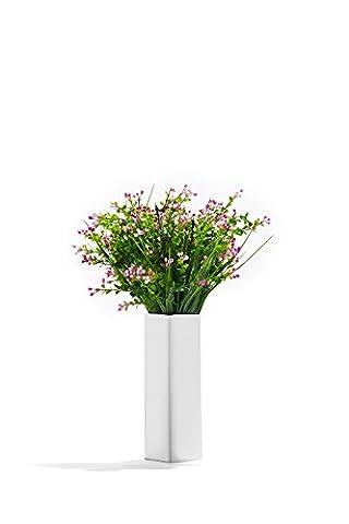 Artificial Plants Stems Decor Herbs Realistic Flowers Faux Lobelia Lifelike Bunch (Magenta, green) (Magenta Green)