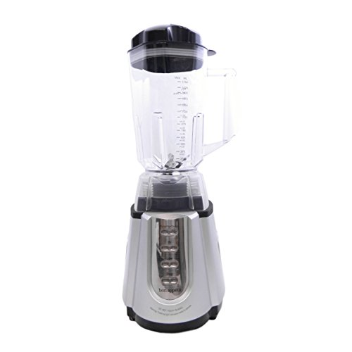 Bon Appetit Blender 1.3HP 8-Blade Dual-Action Power Blender with Metal Drive (Silver) by Bon Appetit