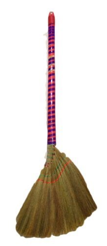 Viatnames Soft Fan (Straw) Broom - Approx. 40'' Long by Namaste India