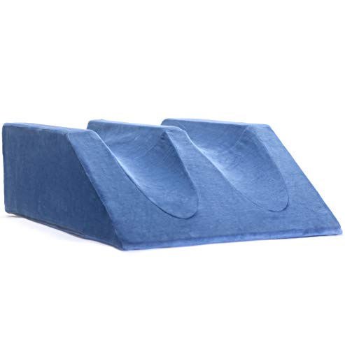 Milliard Double Foam Leg Elevator Cushion Washable Cover, Bed Wedge Support Elevation Pillow for Surgery, Injury Rest ()