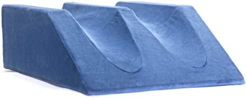 Milliard Double Foam Leg Elevator Cushion Washable Cover, Bed Wedge Support Elevation Pillow for Surgery, Injury Rest