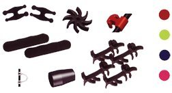 Precision Shooting Equip PSE Color Kit Red Color Dampers (Pse Archery Apparel)