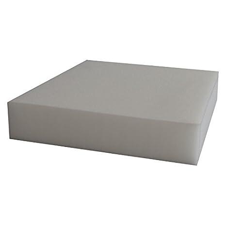 Ventadecolchones Pieza de Espuma a Medida 50 x 50 x 15 cm - Densidad 25 kg/m3 Extrafirme, para Otras Medidas consúltenos: Amazon.es: Hogar