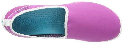 Crocs sin Violet Sport de Viola sintético mujer cordones Skimmer Duet Vibrant Zapatos White rIHrw