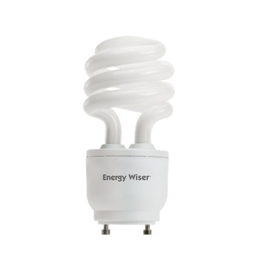 Dimmable Gu24 Compact - Bulbrite CF18WW/GU24/DM 18W 120V Energy Wiser Dimmable Compact Fluorescent Coil T3 Bulb, Warm White