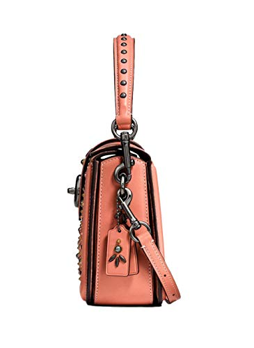 Dark Crossbody Rivets Melon Page Nickel COACH 24075 in Prairie CXqtwt
