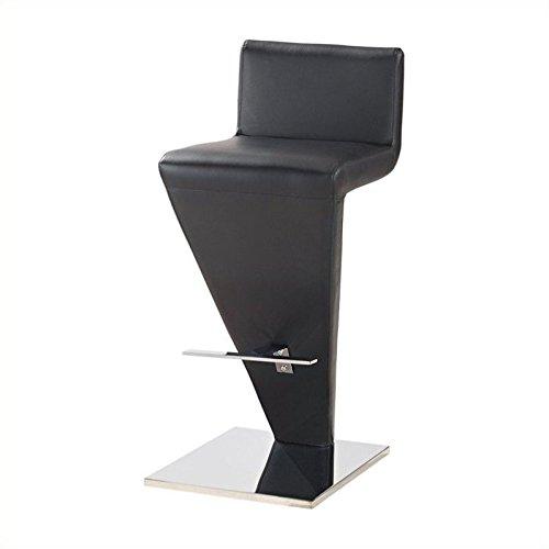 (Global Furniture PVC Bar Stool, Black)